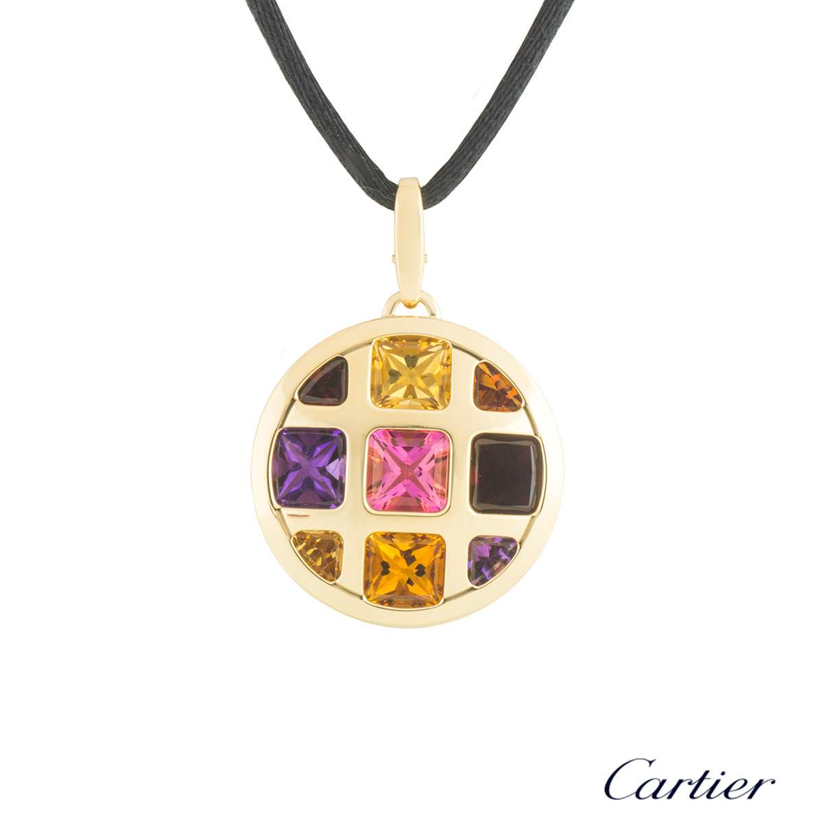Cartier Yellow Gold Multi-Gemstone Pasha Necklace B3020200